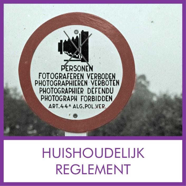 huishoudelijk reglement of regelement vve